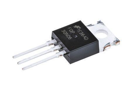МОП-транзистор FQP30N06 N Канал, 30 А, 60 В, 0.031 Ом, 10 В, 4 В