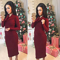 45d504aa079 Платье из трикотажа-резинки с хомутом 4003709