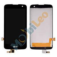 Дисплей (LCD) LG K120E K4 / K121 с сенсором черный