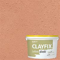 Декоративна глиняна фарба дрібнозерниста CLAYFIX 1.1 ндийско-червона , 10 кг