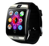 Умные часы Smart Watch Q18. Часы для вашего смартфона. Стильная модель классического стиля.