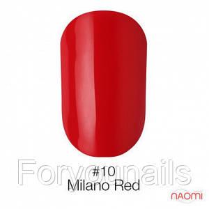 Гель-лак Naomi 010 Milano Red, 6 мл