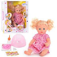 Пупс кукла Валюшаbaby born интерактивныйсаксессуарами,горшок, соска, музыка, коробка32-18,5-40 смT0905 R