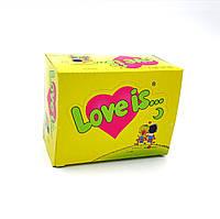 """Жвачка Love is — """"Блок жвачек Love is — """"Кокос-Ананас"""" (блок 100 шт.)"""