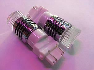 Двухцветная (белый+желтый) LED лампа W27/7W - T25 - 3157 - W3х16q - 30W  6pcs Cree  XBD Chips, Dual color lamp
