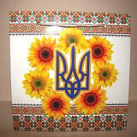"""Подарунковий пакет """"Соняшник"""" (16,5 х 16,5 х 7)"""
