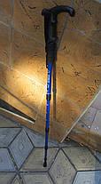 Туристическая складывающаяся палка-трость с изогнутой ручкой, фото 2