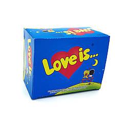 """Жвачка Love is — """"Блок жвачек Love is — """"Банан-Клубника"""" (блок 100 шт.)"""