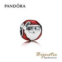 Pandora Шарм ВЕСЕЛЫЙ САНТА #791405ENMX серебро 925 Пандора оригинал