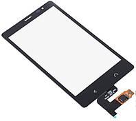 Тачскрин (сенсор, экран) Nokia X2 Dual Sim черный оригинал