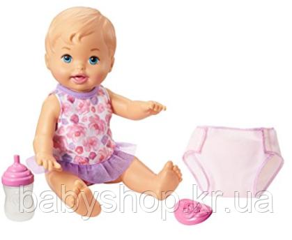 Писающий пупс с голубыми глазами в комплекте с аксессуарами Little Mommy Drink & Wet Doll, Blue Eyes, фото 1