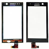 Тачскрин (сенсор, экран) Sony ST25i Xperia U черный
