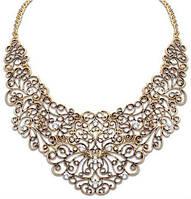 Ожерелье колье бронзовое с кристаллами