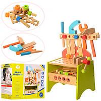 Деревянная игрушка Набор инструментов MD 1067 верстак, в кор-ке, 33-18-28см