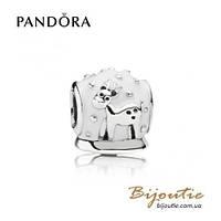 Pandora Шарм СНЕЖНЫЙ ШАР #791228EN12 серебро 925 Пандора оригинал