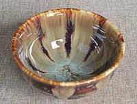 Сунская пуэрная пиала (глиняная пиала в глазури с красивым узором) №3