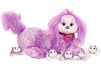 Беременная собачка и ее щенки Just Play Puppy Surprise Plush, Chloe из США, фото 1
