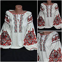 Льняная вышиванка для женщин, 42-54 р-ры, 950/850 (цена за 1 шт. + 100 гр.)