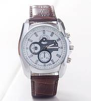 Мужские часы на кожаном ремешке коричневые mw140-1