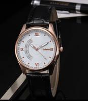 Мужские часы на кожаном ремешке Dobroa белый циферблат mw19-1
