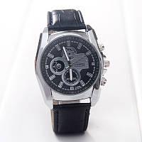 Мужские часы на кожаном ремешке черные mw140-2