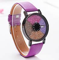 Часы женские Stardust Секции сиреневый ремешок 075-3
