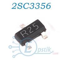 2SC3356, (R25), транзистор биполярный, NPN 12В 0.1А, SOT23