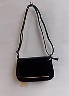 Сумка женская клатч лаковый купить оптом со склада AL 690 черный
