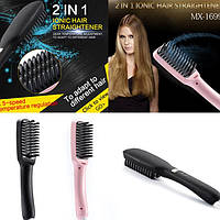 Расческа выпрямитель для волос PTC Heating 2 in 1, расческа для выпрямления