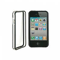 РАСПРОДАЖА! CO-49 Plastic Protective Ultra-slim iPhone 4G Bumper Frame Skin Case Cover with Power Switch Volume Control