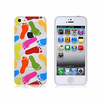 РАСПРОДАЖА! NEWTONS 3D Footprint Pattern Protective Case for iPhone 5