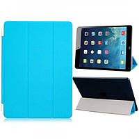 РАСПРОДАЖА! Faux Leather Tri-folded Magnetic Protective Cover with Hinge for iPad Air (Blue)