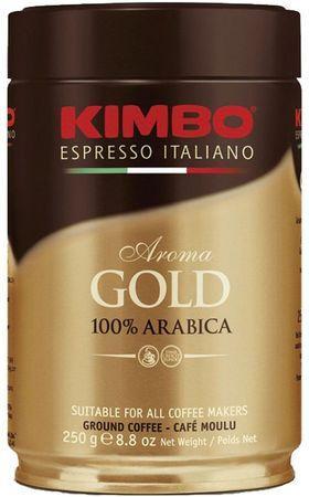 Кофе KIMBO Espresso Aroma gold 100% Arabica ж/б молотый 250 г
