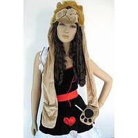 Теплая карнавальная шапка - Лев