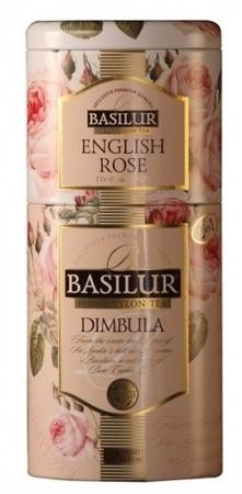 Черный чай Basilur Димбула и английская роза ж/б 125 г
