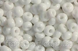Бісер 03050 (10201) Preciosa (Чехія) білий натуральний 25г 31119