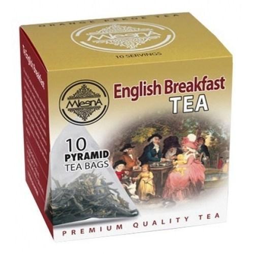 Черный чай Английский завтрак в пакетиках Млесна картон 20г