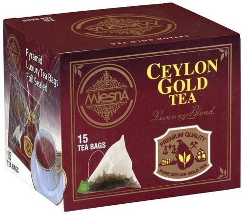 Черный чай Цейлон Голд в пакетиках Млесна картон 30 г