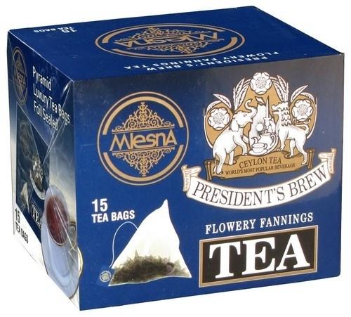 Черный чай Президент Брю в пакетиках Млесна картон 30 г