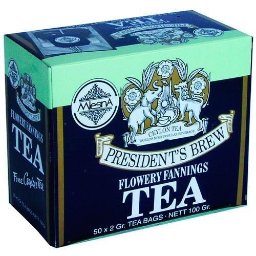 Черный чай Президент Брю в пакетиках Млесна картон 100 г