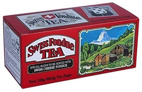 Черный чай Свис Фондю в пакетиках Млесна картон 100 г