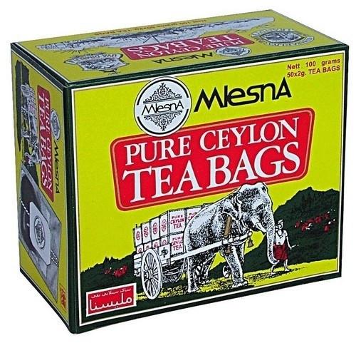 Черный чай Слон в пакетиках Млесна картон 100 г