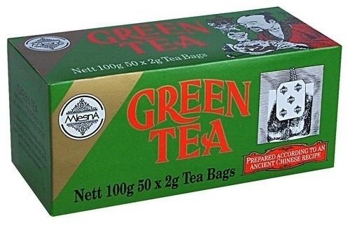 Зеленый чай в пакетиках Млесна картон 100 г
