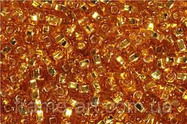 Бисер 17050 (10311 ) Preсiosa (Чехия) золотой блестящий 25г
