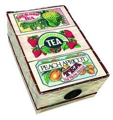 Черный чай Коллекция 3 вида Арома Млесна плетенная шкатулка 150 г
