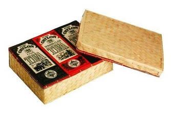 Черный чай Коллекция из 3 видов Млесна плетенная шкатулка 300 г