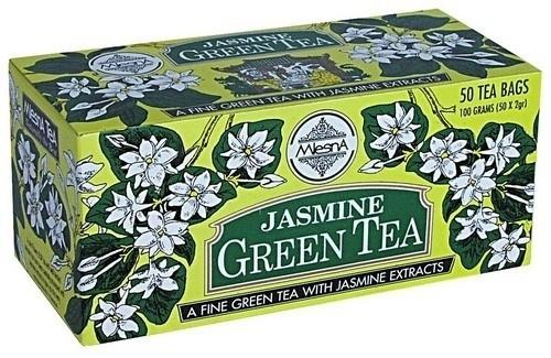 Зеленый чай Жасмин в пакетиках Млесна картон 100 г