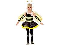 """Карнавальный костюм """"Пчелка"""" S/M/L (110-140см) платье/крылья/гол.убор/нарукавники"""