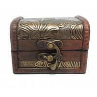 Шкатулка деревянная Сундучок маленькая 398S