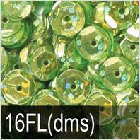 Пайета 6мм с голографическим блеском DMS 16FL салатовые